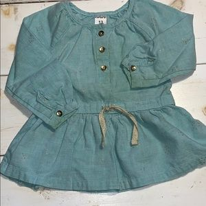 Baby Girls 12M Turquoise Top NWOT